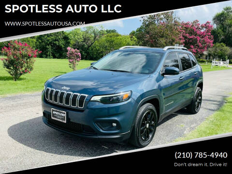 2019 Jeep Cherokee for sale at SPOTLESS AUTO LLC in San Antonio TX