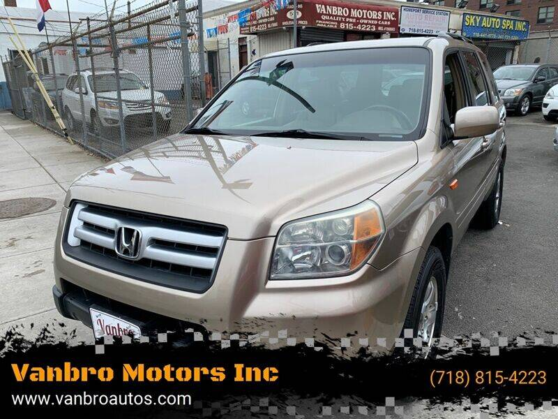 2006 Honda Pilot for sale at Vanbro Motors Inc in Staten Island NY