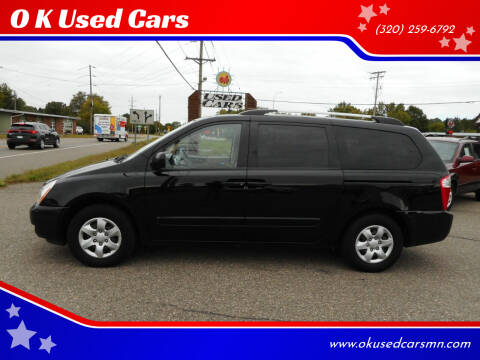 2010 Kia Sedona for sale at O K Used Cars in Sauk Rapids MN