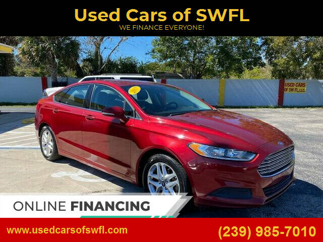 2013 Ford Fusion for sale at Used Cars of SWFL in Fort Myers FL