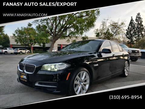 2014 BMW 5 Series for sale at FANASY AUTO SALES/EXPORT in Yorba Linda CA