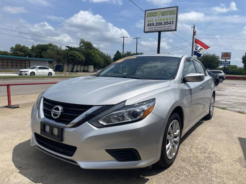 2016 Nissan Altima for sale at Shock Motors in Garland TX