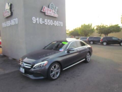 2015 Mercedes-Benz C-Class for sale at LIONS AUTO SALES in Sacramento CA