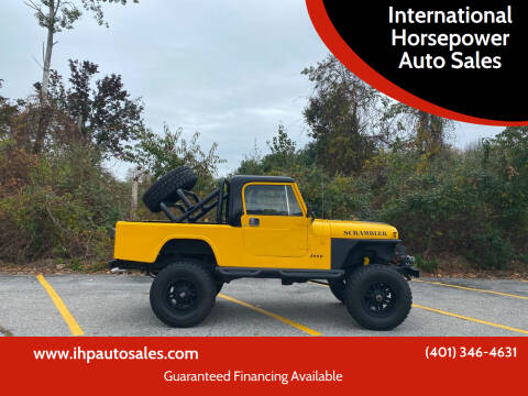 1981 Jeep Scrambler for sale at International Horsepower Auto Sales in Warwick RI