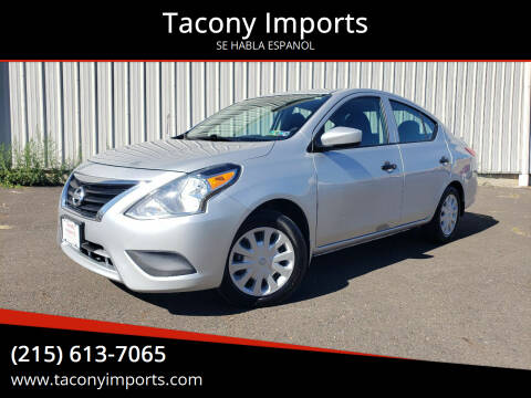 2017 Nissan Versa for sale at Tacony Imports in Philadelphia PA