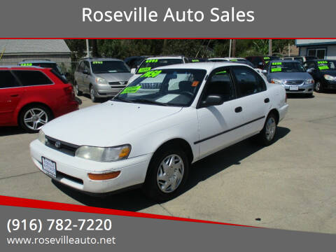1995 Toyota Corolla for sale at Roseville Auto Sales in Roseville CA