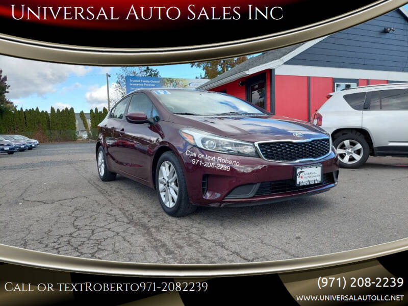 2017 Kia Forte for sale at Universal Auto Sales Inc in Salem OR
