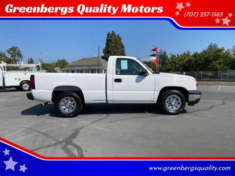 2006 Chevrolet Silverado 1500 for sale at Greenbergs Quality Motors in Napa CA