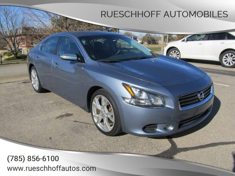 2012 Nissan Maxima for sale at Rueschhoff Automobiles in Lawrence KS