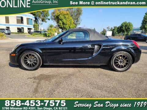 2001 Toyota MR2 Spyder for sale at Online Auto Group Inc in San Diego CA