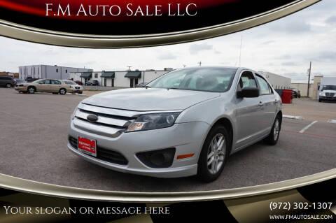 2010 Ford Fusion for sale at F.M Auto Sale LLC in Dallas TX