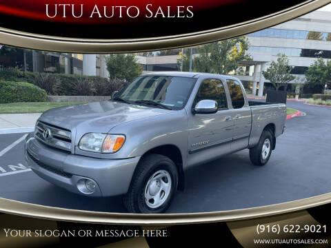 2003 Toyota Tundra for sale at UTU Auto Sales in Sacramento CA