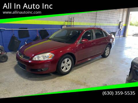 2010 Chevrolet Impala for sale at All In Auto Inc in Addison IL