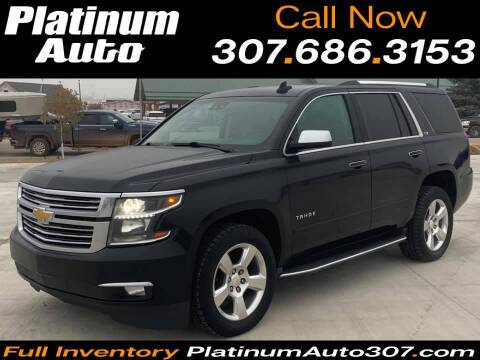 2015 Chevrolet Tahoe for sale at Platinum Auto in Gillette WY