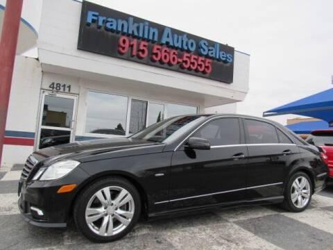 2011 Mercedes-Benz E-Class for sale at Franklin Auto Sales in El Paso TX