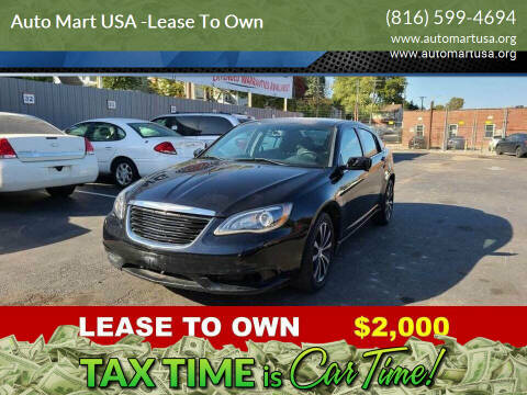 2013 Chrysler 200 for sale at Auto Mart USA -Lease To Own in Kansas City MO