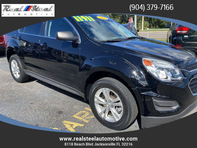 2016 Chevrolet Equinox for sale at Real Steel Automotive in Jacksonville FL