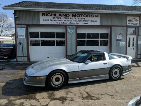 1985 Chevrolet Corvette for sale at Richland Motors in Cleveland OH