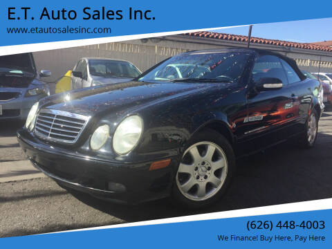 2002 Mercedes-Benz CLK for sale at E.T. Auto Sales Inc. in El Monte CA
