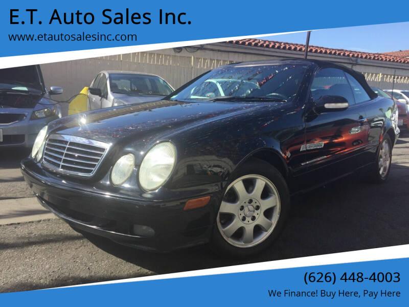 2002 Mercedes-Benz CLK for sale at E.T. Auto Sales Inc. in El Monte CA