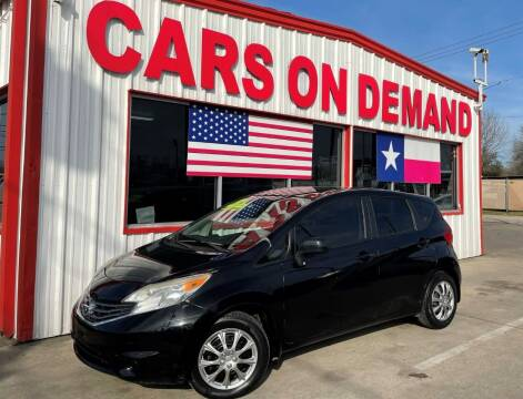 2014 Nissan Versa Note for sale at Cars On Demand 2 in Pasadena TX