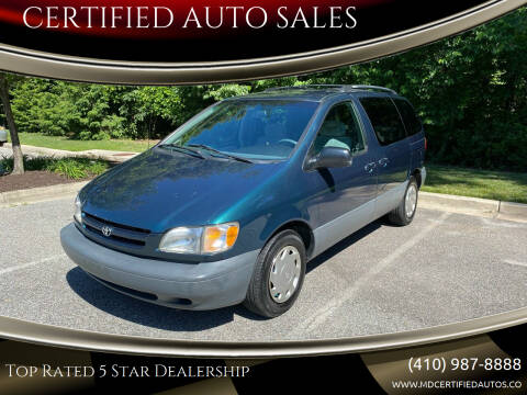1998 Toyota Sienna for sale at CERTIFIED AUTO SALES in Severn MD