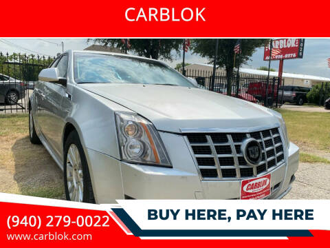 2012 Cadillac CTS for sale at CARBLOK in Lewisville TX