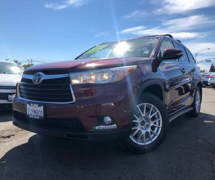 2015 Toyota Highlander for sale at LUGO AUTO GROUP in Sacramento CA