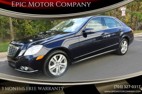 2010 Mercedes-Benz E-Class for sale at Epic Motor Company in Chantilly VA