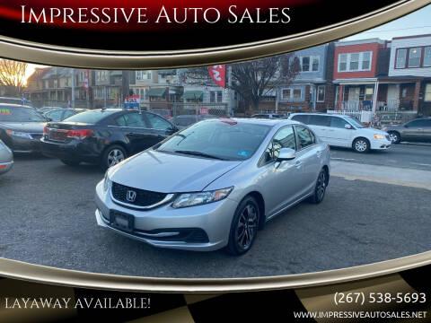 2013 Honda Civic for sale at Impressive Auto Sales in Philadelphia PA