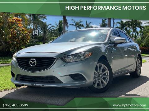 2016 Mazda MAZDA6 for sale at HIGH PERFORMANCE MOTORS in Hollywood FL