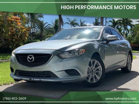 2016 Mazda MAZDA6 for sale at HIGH PERFORMANCE MOTORS in Hollywood FL