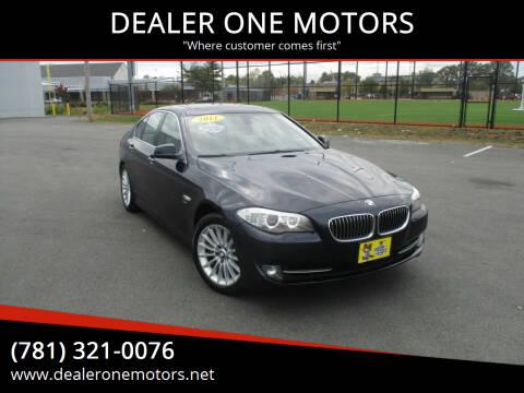 2011 BMW 5 Series for sale at DEALER ONE MOTORS in Malden MA