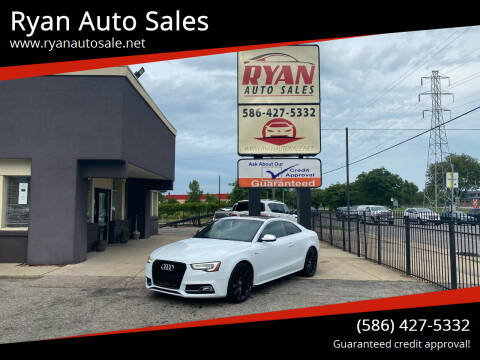 2013 Audi S5 for sale at Ryan Auto Sales in Warren MI