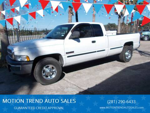 2001 Dodge Ram Pickup 2500 for sale at MOTION TREND AUTO SALES in Tomball TX