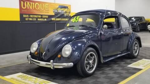 1965 Volkswagen Beetle for sale at UNIQUE SPECIALTY & CLASSICS in Mankato MN