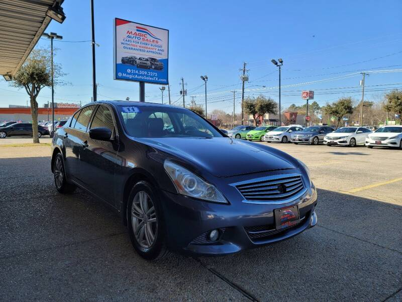 2011 Infiniti G37 Sedan for sale at Magic Auto Sales - Cash Cars in Dallas TX