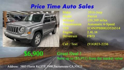 2016 Jeep Patriot for sale at PRICE TIME AUTO SALES in Sacramento CA