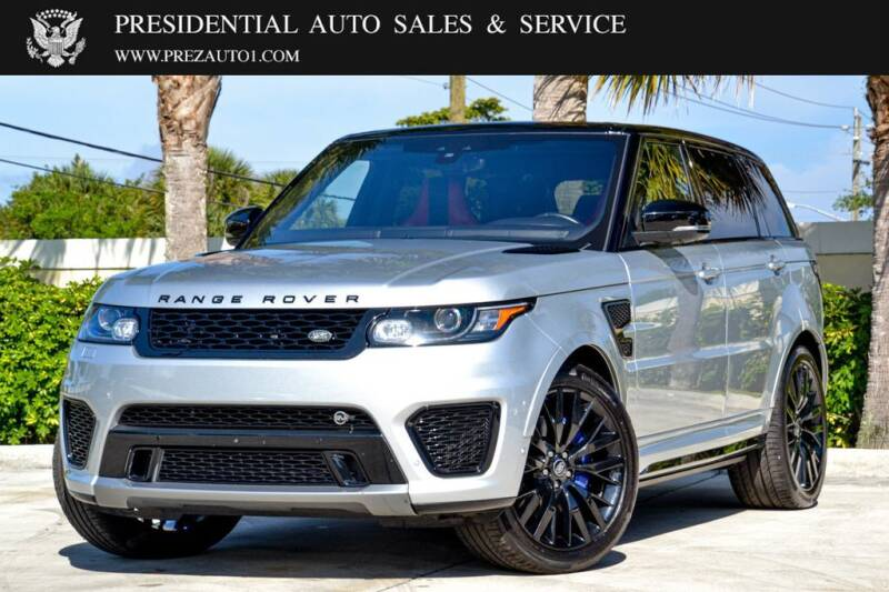 2017 Land Rover Range Rover Sport for sale at Presidential Auto  Sales & Service in Delray Beach FL