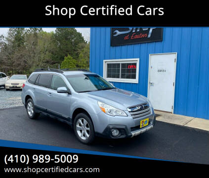 2013 Subaru Outback for sale at Shop Certified Cars in Easton MD
