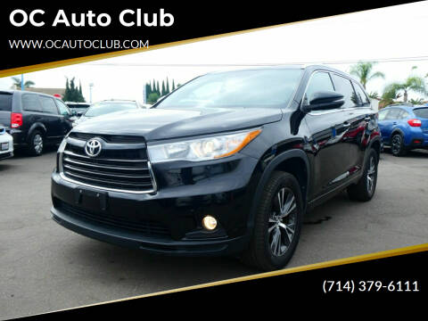 2016 Toyota Highlander for sale at OC Auto Club in Midway City CA