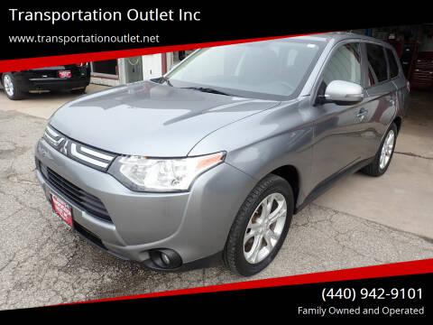 2014 Mitsubishi Outlander for sale at Transportation Outlet Inc in Eastlake OH