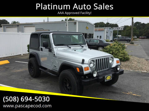 2005 Jeep Wrangler for sale at Platinum Auto Sales in South Yarmouth MA