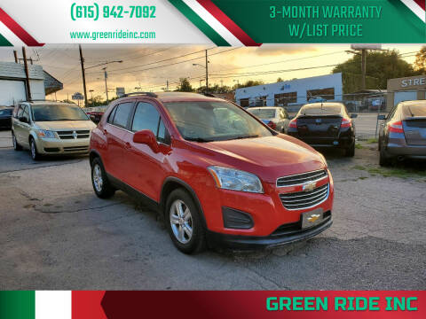 2015 Chevrolet Trax for sale at Green Ride Inc in Nashville TN