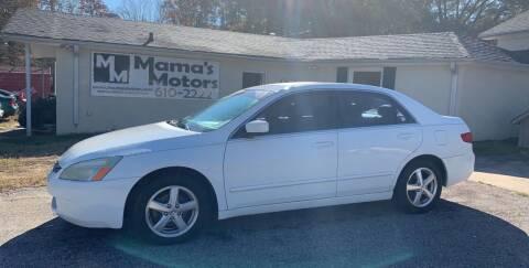 2005 Honda Accord for sale at Mama's Motors in Greer SC