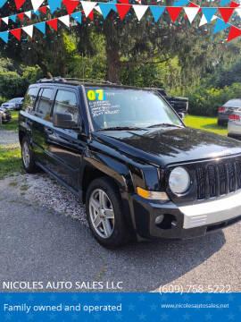 2007 Jeep Patriot for sale at NICOLES AUTO SALES LLC in Cream Ridge NJ