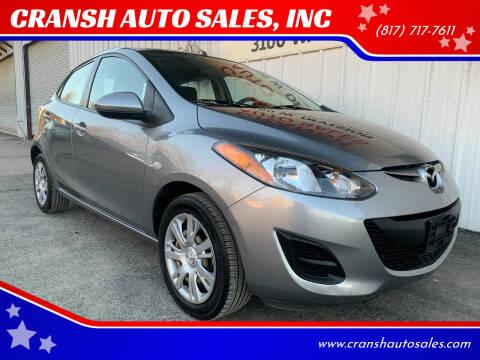 2013 Mazda MAZDA2 for sale at CRANSH AUTO SALES, INC in Arlington TX