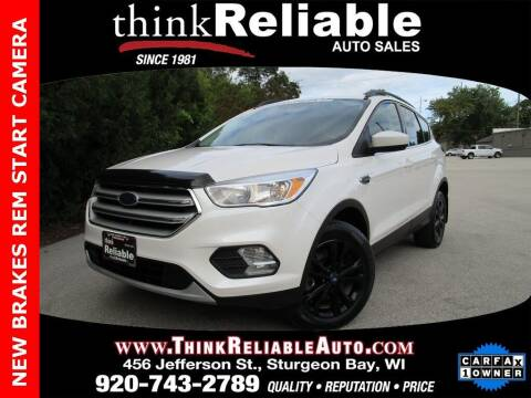 2018 Ford Escape for sale at RELIABLE AUTOMOBILE SALES, INC in Sturgeon Bay WI