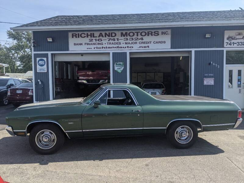 1970 Chevrolet El Camino for sale at Richland Motors in Cleveland OH