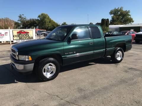 1998 Dodge Ram Pickup 1500 for sale at Cordova Motors in Lawrence KS